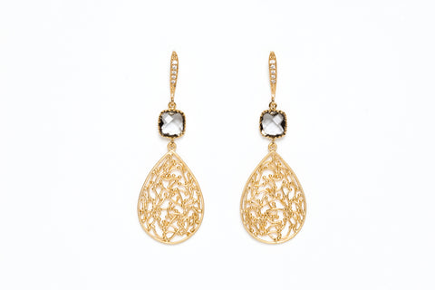 Avenue Chic Filigree Teardrop Earrings - The Gathering Shops