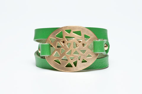 Avenue Chic Filigree Leather Wrap Bracelet - The Gathering Shops