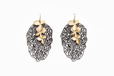 Avenue Chic Filigree Orchid Leaf Earrings - The Gathering Shops