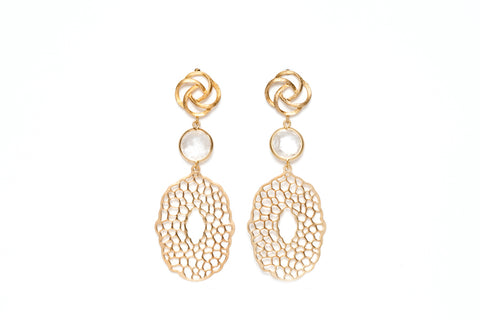 Avenue Chic Filigree Pendant Earrings - The Gathering Shops