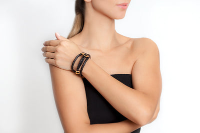 Avenue Chic Cascabel Leather Wrap Bracelet - The Gathering Shops