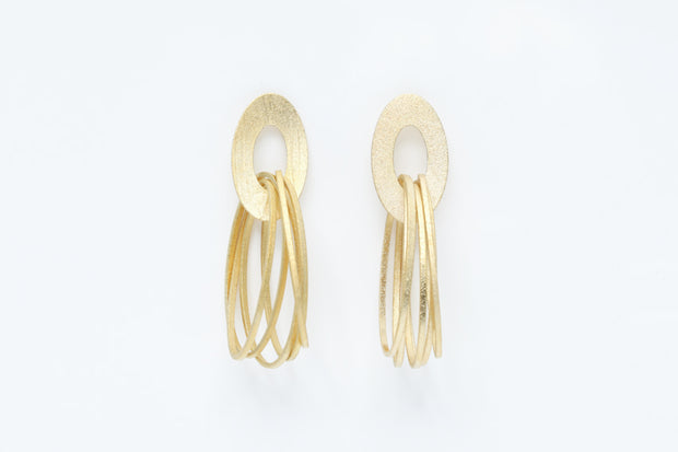 Avenue Chic Multi Oval Stud Earrings - The Gathering Shops