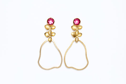Avenue Chic Orchid Pear Earrings - The Gathering Shops