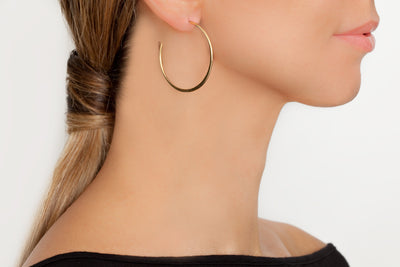 Avenue Chic Spiral Hoop Gold Earrings - The Gathering Shops