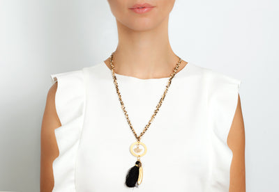 Avenue Chic Tassel Bird Necklace - The Gathering Shops