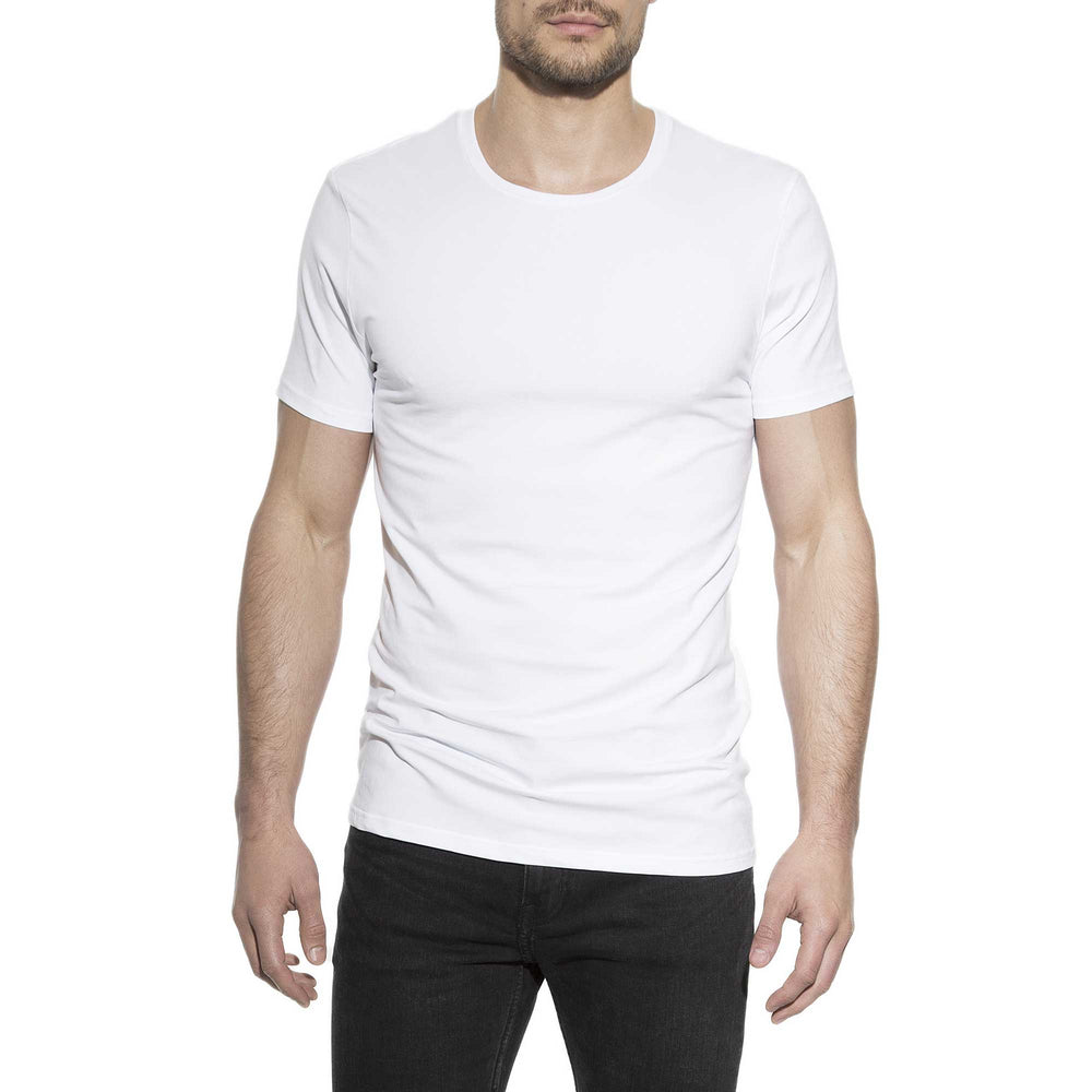 Bread & Boxers 94% Organic Cotton Crew Neck - White - The Gathering Shops