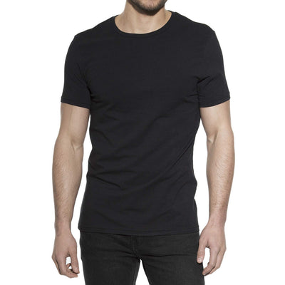 Bread & Boxers 94% Cotton Crew Neck - Black - The Gathering Shops
