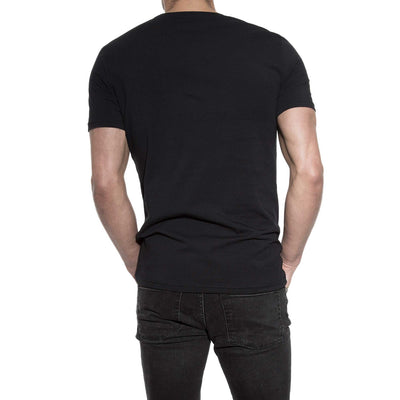 94% Cotton Crew Neck in Black - The Gathering Shops
