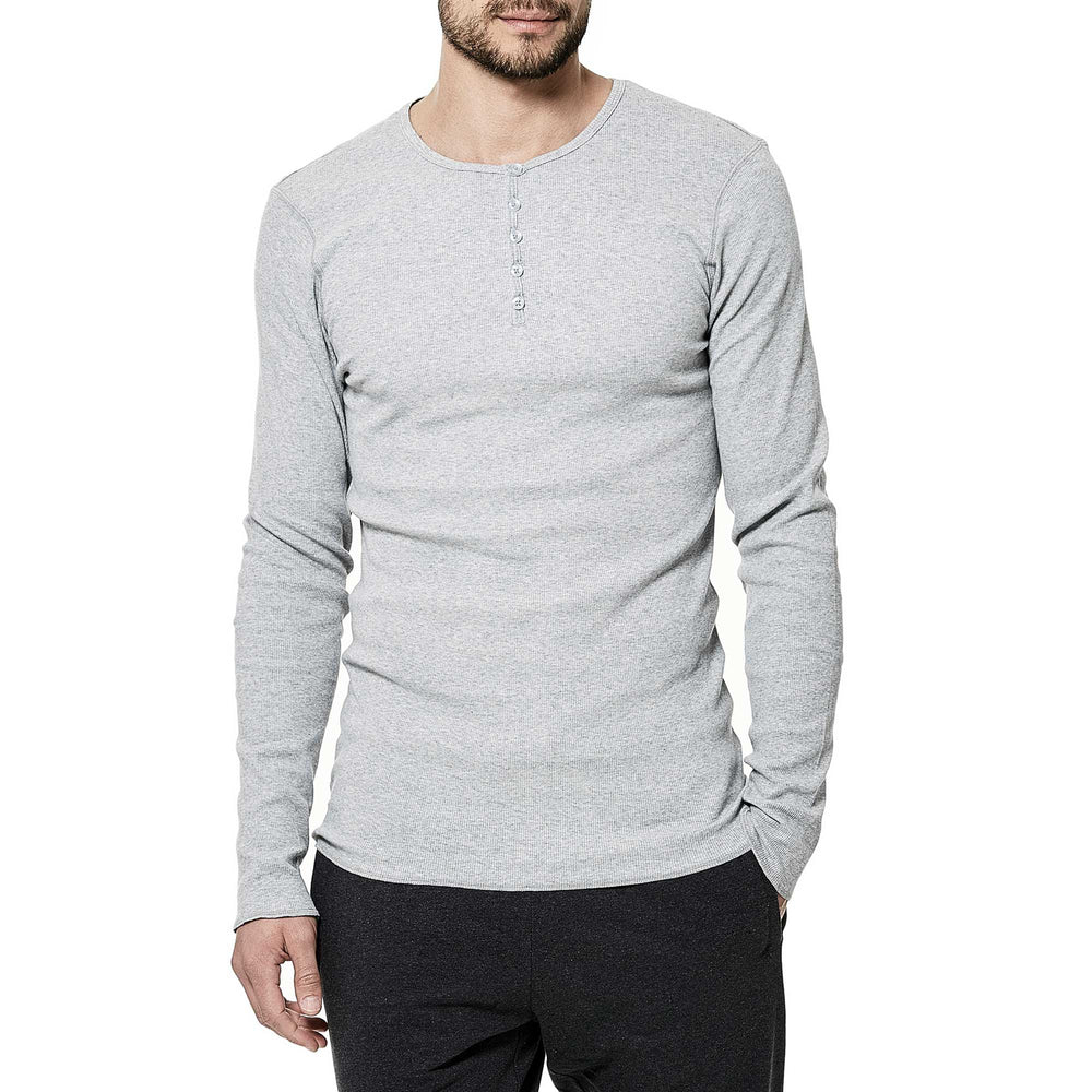 97% Cotton Classic Henley - The Gathering Shops