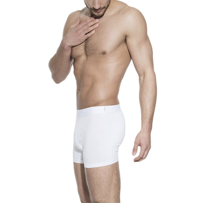 Bread & Boxers 3-Pack Mens Boxer Brief Underwear - White - The Gathering Shops
