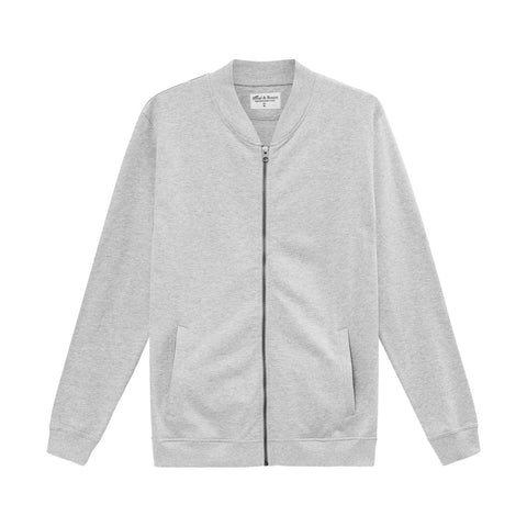 Bread & Boxers 100% Cotton Zip-Up Jersey Jacket - The Gathering Shops