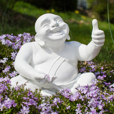 The Suburban Monk White Big Syd Figurine - The Gathering Shops