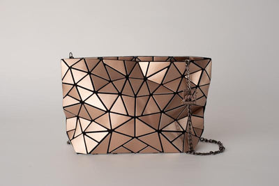 Junell5 Gold Metallic Geometric Chain Crossbody Bag - The Gathering Shops