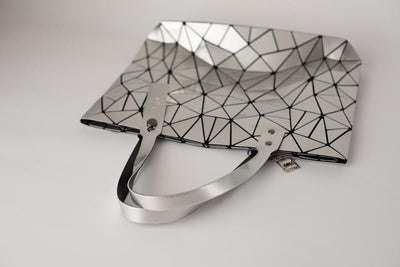 Junell5 Silver Metallic Geometric Tote Bag - The Gathering Shops