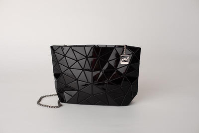 Junell5 Black Metallic Chain Cross Body Bag - The Gathering Shops