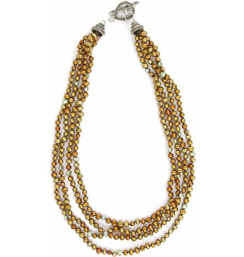 Dana Blair Copper Fresh Water Pearl Necklace
