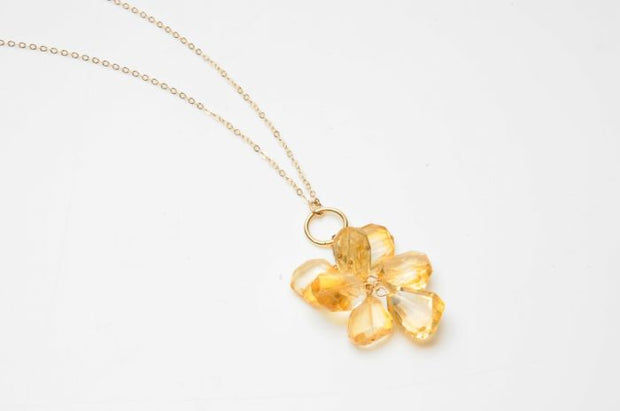 Dana Blair Citrine Cluster Necklace