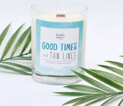 Brighter Days Good Times And Tan Lines Candle - The Gathering Shops