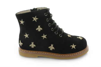 Hoo Shoes Junipers Star Black Lace Boot - The Gathering Shops