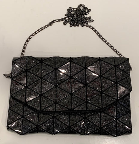 Junell5 Glitter Clutch Bag With Chain Strap - The Gathering Shops
