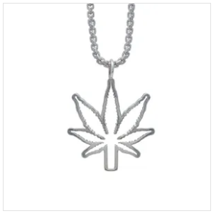 Kind Fine Jewelry Silver Leaf Outline Necklace - The Gathering Shops