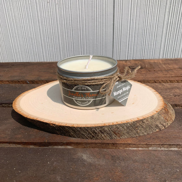 Janelle's Flame Mango Magic Soy Candle - The Gathering Shops