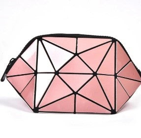 Junell5 Pink Metallic Cosmetic Pouch