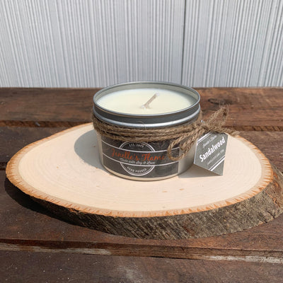 Janelle's Flame Sandalwood Soy Candle - The Gathering Shops