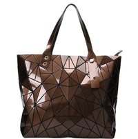 Junell5 Coffee Metallic Geometric Tote Bag - The Gathering Shops