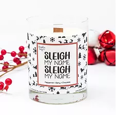 Brighter Days Sleigh My Name Candle - The Gathering Shops