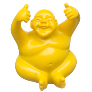 The Suburban Monk Joyful Yellow Glossy Syd Figurine - The Gathering Shops