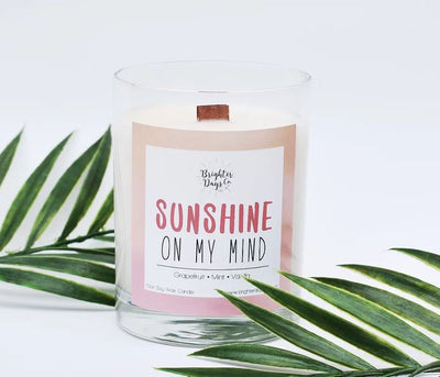 Brighter Days Sunshine On My Mind Candle - The Gathering Shops