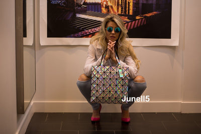 Junell5 Laser Geometric Tote Bag