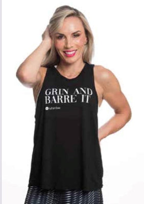 Whimtee Grin & Barre Black Slash Back Tank - The Gathering Shops