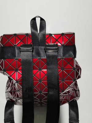 Junell5 Red Metallic Pouch Backpack - The Gathering Shops