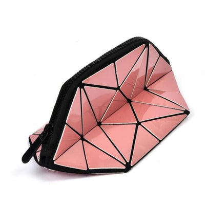 Pink Metallic Cosmetic Pouch