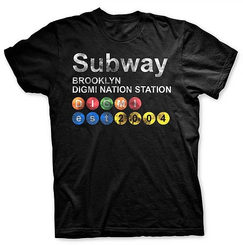 Digmi Subway Short Sleeve T-Shirt - The Gathering Shops