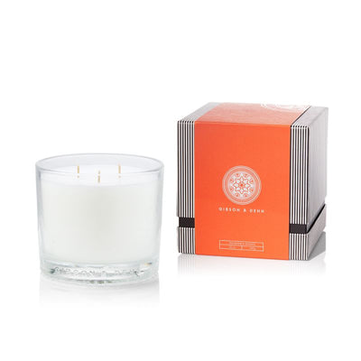 Gibson & Dehn Rhubarb & Quince Three Wick Candle - The Gathering Shops