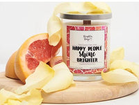 Brighter Days Happy People Shine Brighter Candle - The Gathering Shops