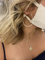 Lily Max Gold Tone Paperclip Link Face Mask Chain