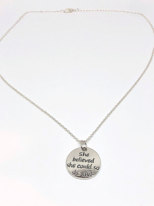 Nolu Jewels She Believed She Could, So She Did Silver Necklace - The Gathering Shops