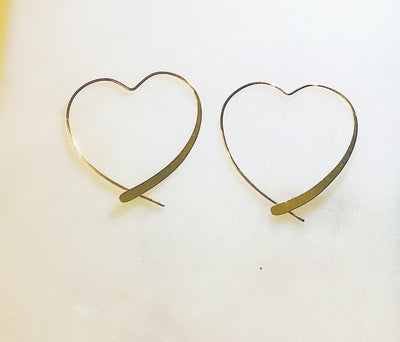 Lily Max You Have My Heart Hoop Earrings - The Gathering Shops