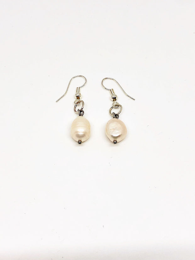 Nolu Jewels Fresh Water Pearl Silver Earrings - The Gathering Shops