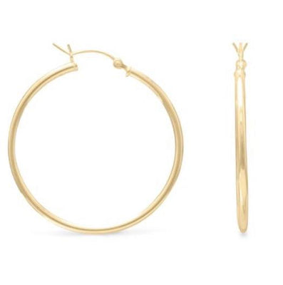 Lily Max Brooklyn Gold Hoop Earrings - The Gathering Shops