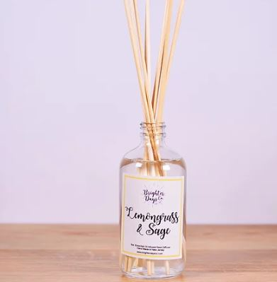 Brighter Days Lemongrass & Sage Reed Diffuser - The Gathering Shops