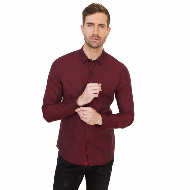 Vustra Micro Dots Fusion Button Down Shirt - The Gathering Shops