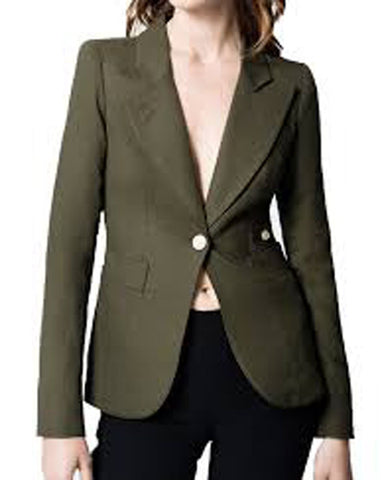Dinha Drake Arrow Green Blazer - Get Custom Leather Jackets