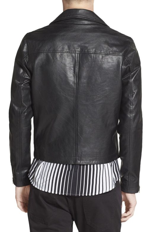 Hunky Black Leather Biker Jacket - Get Custom Leather Jackets