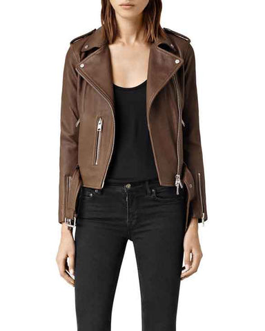 Super Nancy Women Classic Leather Jackets - Get Custom Leather Jackets