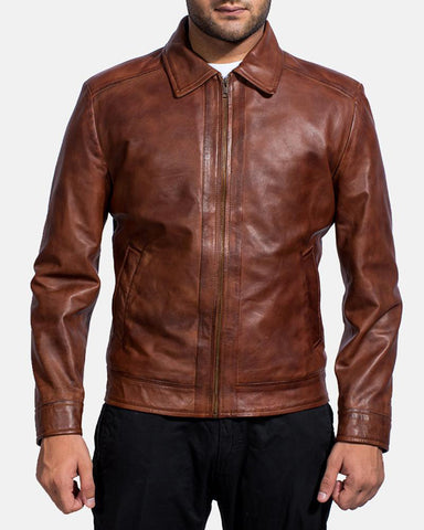 Brown Leather Jacket - Get Custom Leather Jackets